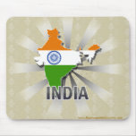 India Flag Map 2.0 Mouse Pads