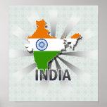 India Flag Map 2.0 Print