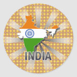 India Flag Map 2.0 Stickers