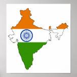 India Flag Map full size Print