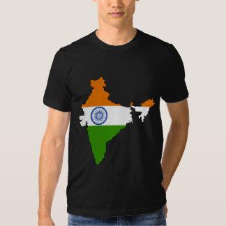 India Flag Map full size T Shirt