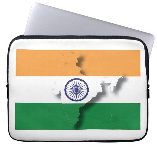 INDIA Flag Map Patriotic Computer Laptop Sleeve