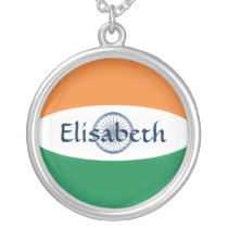 India Flag   Name Necklace