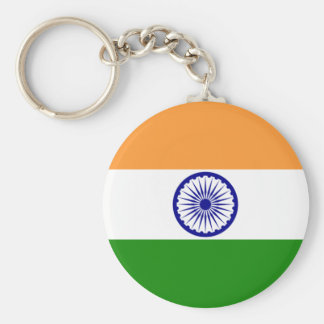 INDIA: Flag of India Basic Round Button Keychain