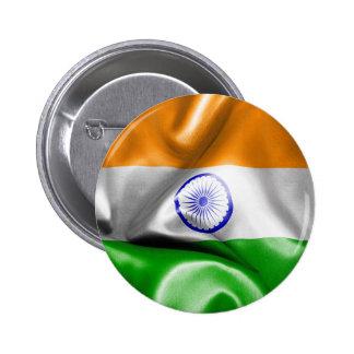 India Flag Pinback Button
