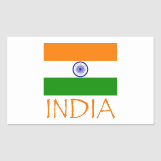 India Flag Rectangular Sticker