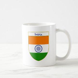 India Flag Shield Coffee Mug