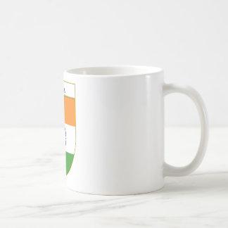 India Flag Shield Coffee Mugs