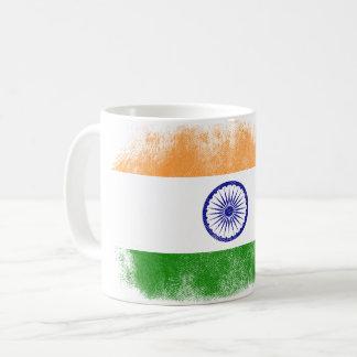 India Flag Souvenir - Distressed Indian Design Coffee Mug