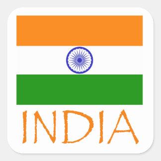 India Flag Square Sticker