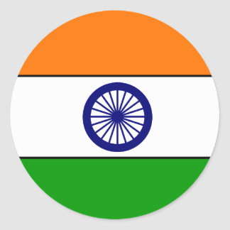 India Flag T-shirts and Gifts Classic Round Sticker