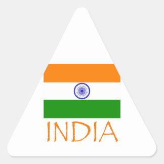 India Flag Triangle Sticker