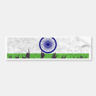 India Flag with Audience Bumper Sticker