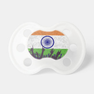 India Flag with Audience Pacifier