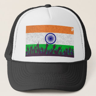 India Flag with Audience Trucker Hat