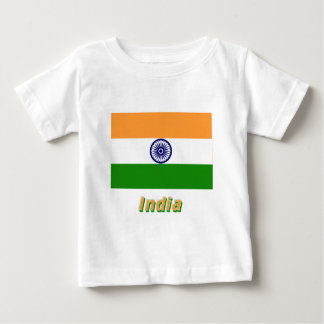 India Flag with Name Baby T-Shirt