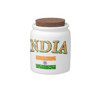 India football design candy jars