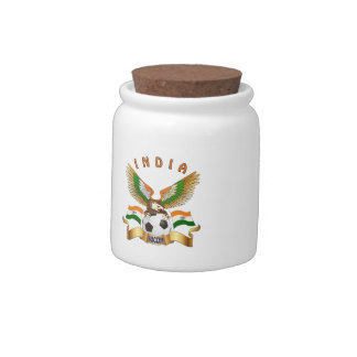 India Football Designs Candy Jar