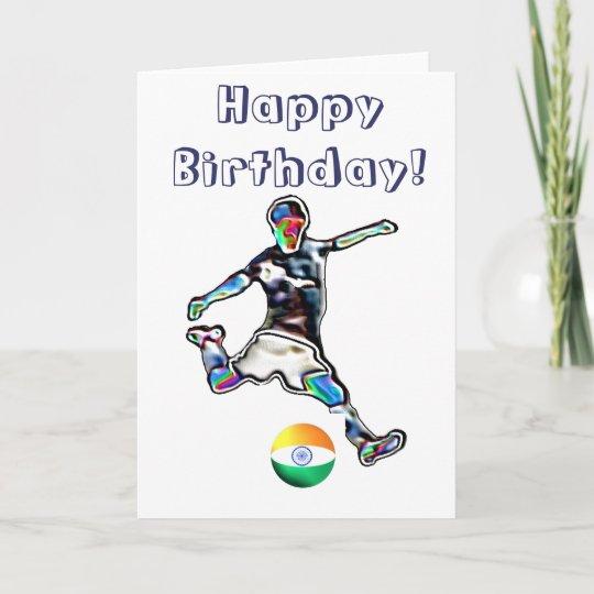 India Football Soccer Birthday Card Zazzle