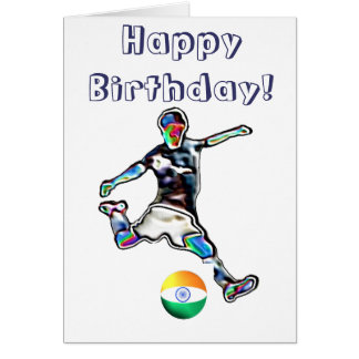 soccer birthday greeting cards  zazzle, Birthday card