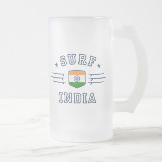 India Frosted Glass Beer Mug