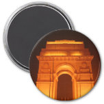 India Gate Delhi India 3 Inch Round Magnet