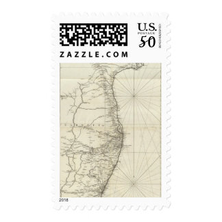 India Geographical Map Postage