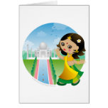 India girl greeting card