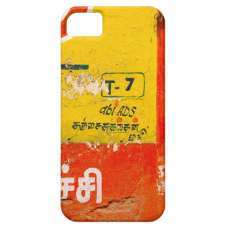 India grunge typography art iphone case