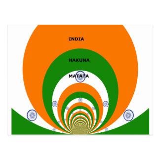 India HAKUNA MATATA Postcard