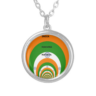 India HAKUNA MATATA Silver Plated Necklace