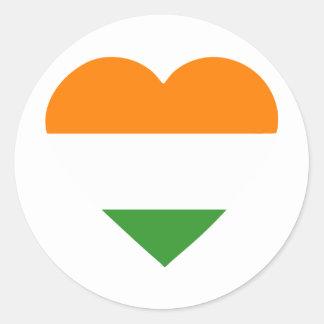 india-heart-2 classic round sticker