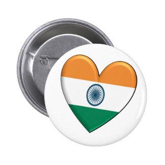 India Heart Flag Button