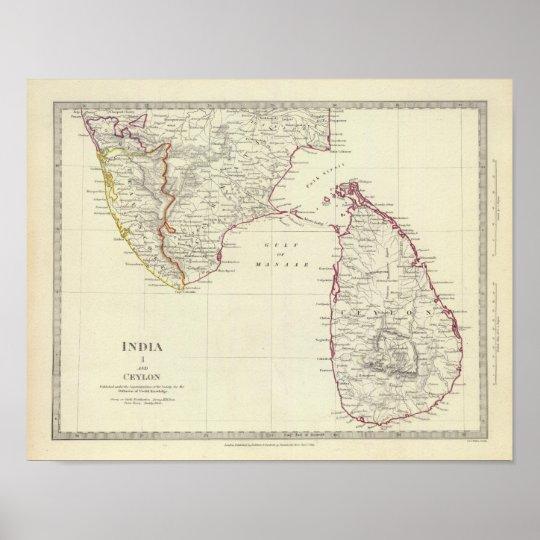India I and Ceylon Poster