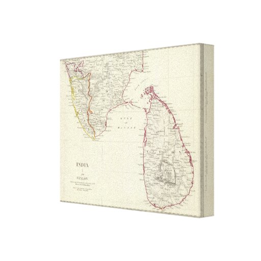 India I and Ceylon Stretched Canvas Print