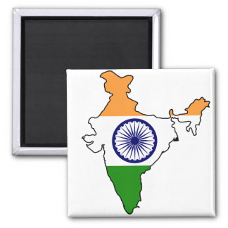 India IN 2 Inch Square Magnet