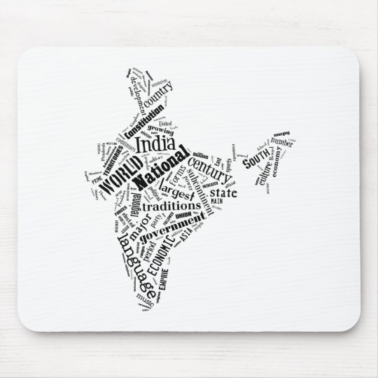 India in Tagxedo Mouse Pad