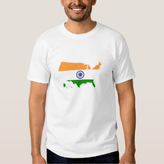 India Indian flag in USA united states Tee Shirt