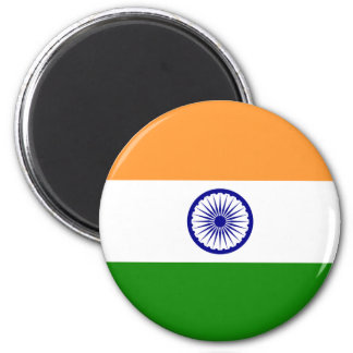 India; Indian Flag 2 Inch Round Magnet