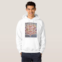 India Indian Hindu Religious Symbols Rangoli Decor Hoodie