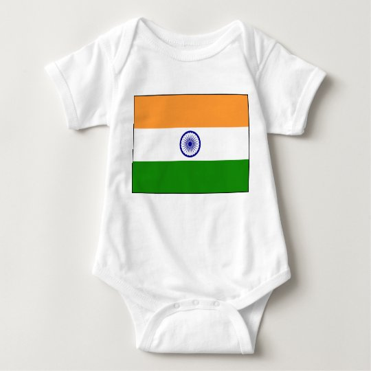 India – Indian National Flag Baby Bodysuit