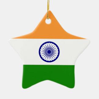 India – Indian National Flag Ceramic Ornament