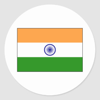 India – Indian National Flag Classic Round Sticker