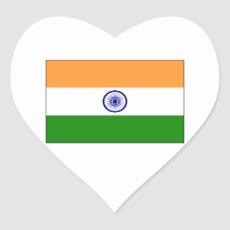 India – Indian National Flag Heart Sticker