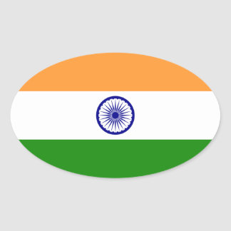 India – Indian National Flag Oval Sticker