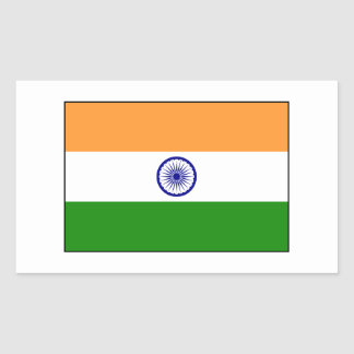 India – Indian National Flag Rectangular Sticker