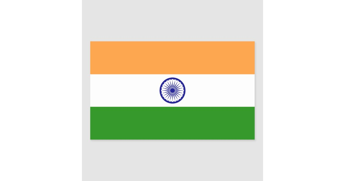 Indian Flag With Different Views: India – Indian National Flag Rectangular Sticker