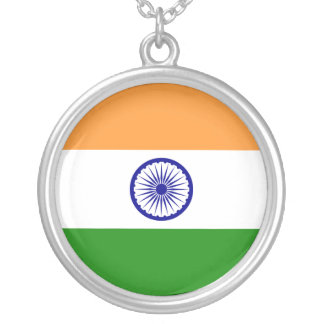 India – Indian National Flag Silver Plated Necklace