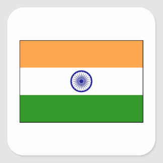 India – Indian National Flag Square Sticker