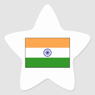 India – Indian National Flag Star Sticker